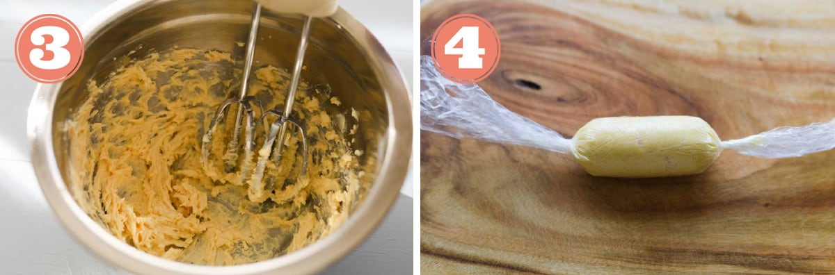 Images of how to make miso butter for sweet potatoes.