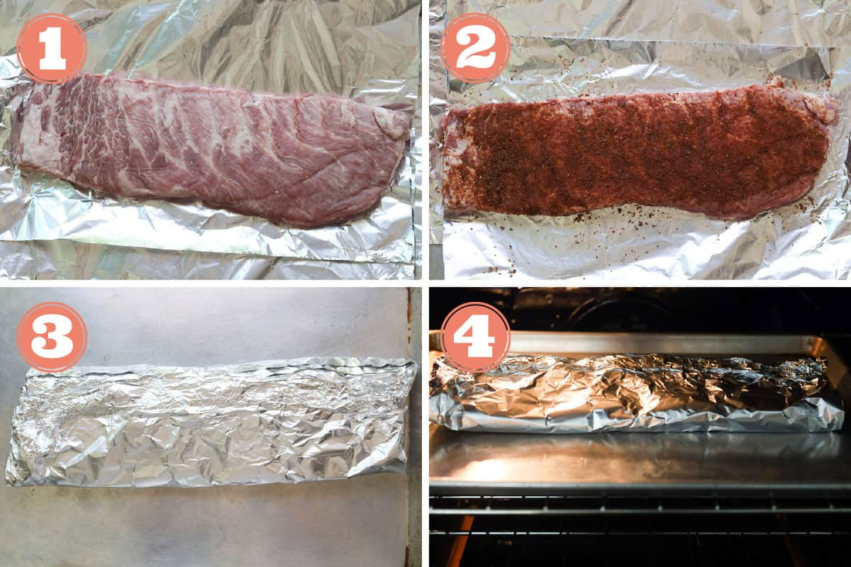 How to make oven baked st. louis ribs with a dry rub seasoning.