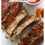 ribs on parchment paper