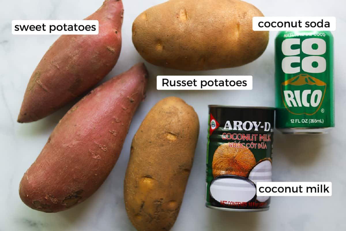 Ingredients for ca ri ga.