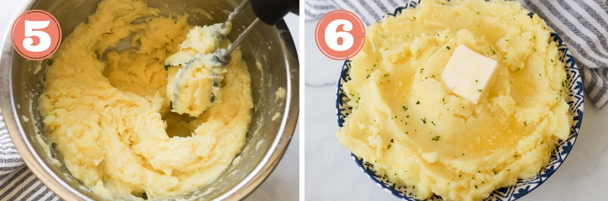Steps on how to make instant pot mashed potatoes.